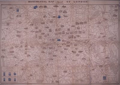 monumental map of london, 1894.